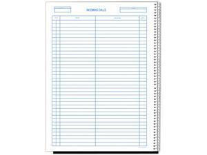Rediform 50-111 Wirebound Call Register, 8-1/2 x 11, 3,700 Forms/Book