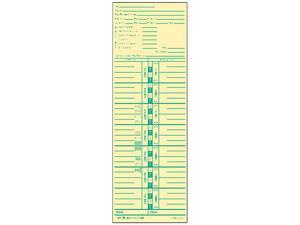 Tops 1253 Time Card for Acroprint and Lathem, Weekly, 3-1/2 x 10-1/2, 500/Box