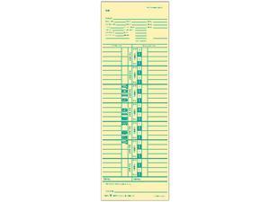 Tops 1255 Time Card for Cincinnati, Simplex, Weekly, 3-1/2 x 10-1/2, 500/Box