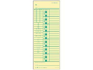 Tops 1257 Time Card for Acroprint and Simplex, Weekly, Two-Sided, 3-1/2 x 9, 500/Box