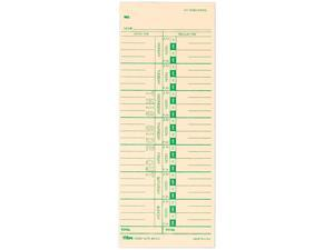 Tops 1259 Time Card for Acroprint, IBM, Lathem and Simplex, Weekly, 3-1/2 x 9, 500/Box