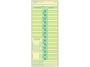 Tops 1275 Time Card for Lathem, Bi-Weekly, Two-Sided, 3-1/2 x 9, 500/Box