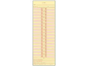 Tops 1276 Time Card for Cincinnati/Lathem/Simplex/Acroprint, Semi-Monthly, 500/Box