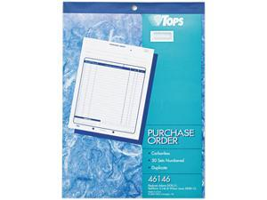 Tops 46146 Purchase Order Book, 2-Part Carbonless, 50 ST/BK