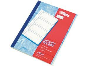 Tops 46816 Money and Rent Receipt Books, 7-1/4 x 2-3/4, Two-Part Carbonless, 400 Sets/Book