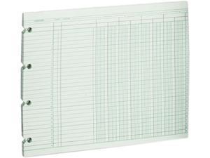 10 Column Green 9-1//4 x 11-7//8 100 Loose Sheets//Pack Accounting Sheets