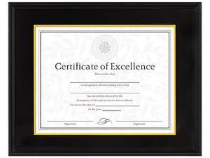 DAX Hardwood Document/Certificate Frame 11 X 14, Black 1511TB