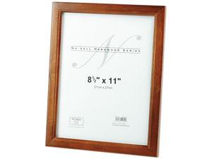 Nu-Dell 15815 Solid Oak Hardwood Frame, 8-1/2 x 11, Walnut