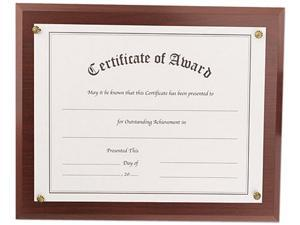 Nu-Dell 18813M Award-A-Plaque - Wall-mountable - Acrylic - Mahogany