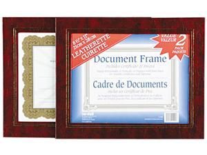 Nu-Dell 21200 Leatherette Document Frame, 8-1/2 x 11, Burgundy, Pack of Two