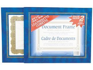 Nu-Dell 21201 Leatherette Document Frame, 8-1/2 x 11, Blue, Pack of Two