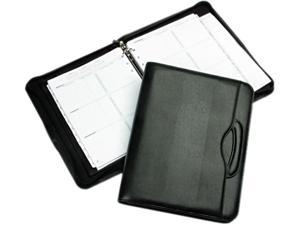 Day-Timer 43701 Avalon Leatherlike Vinyl Attache Organizer Starter Set, 8-1/2 x 11, Black