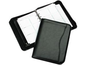 Day-Timer 82631 Avalon Leatherlike Vinyl Zippered Organizer Starter Set, 5-1/2 x 8-1/2, Black
