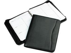 Day-Timer 82831 Avalon Leatherlike Vinyl Zippered Organizer Starter Set, 8-1/2 x 11, Black