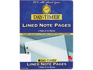 Day-Timer 87328 Lined Note Pads for Organizer, 8-1/2 x 11, 48 Sheets/Pack