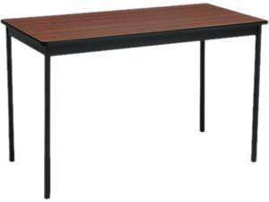 Barricks UT244830-WA Utility Table, Rectangular, 48w x 24d x 30h, Walnut