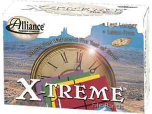 Alliance 02004 X-treme File Black Rubber Bands, 7 x 1/8, 175 Bands/1lb Box