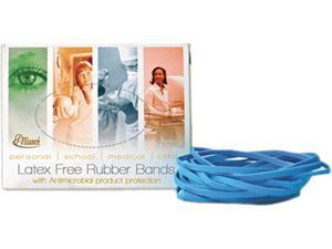 Alliance 42649 Antimicrobial Cyan Blue Rubber Bands, Size 64, 3-1/2 x 1/4, 1/4lb Box