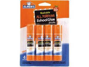 Elmer's E542 - Washable All Purpose School Glue Sticks, 4/Pack