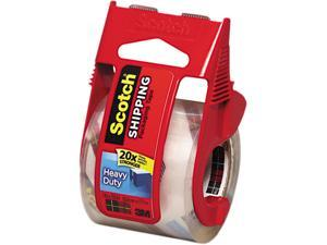 "Scotch 142 3850 Heavy Duty Packaging Tape in Sure Start Dispenser, 2"" x 22 yds, Clear"