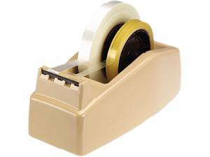 "Scotch C22 Two-Roll Desktop Tape Dispenser, 3"" core, High-Impact Plastic, Beige"