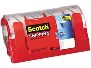 """Scotch 3850-4RD 3850 Heavy Duty Packaging Tape, 1.88"""" x 54.6 yards, Clear, 4/Pack"""