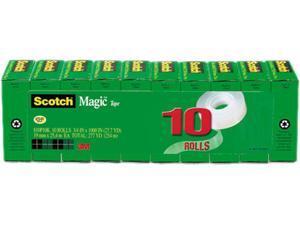 """Scotch 810P10K - Magic Tape Value Pack, 3/4"""" x 1000"""", 1"""" Core, 10/Pack"""