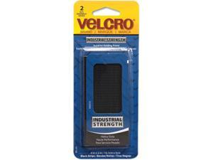 Velcro 90199 Industrial Strength Sticky-Back Hook and Loop Fastener Strips, 4 x 2, Black