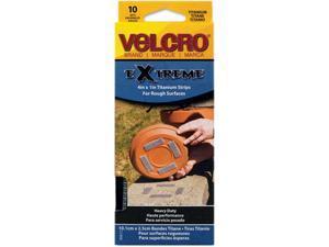 Velcro 90812 Extreme Indoor/Outdoor Hook and Loop Fasteners, 1 x 4 Strips, 10/Pack