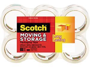 "Scotch MMM36506 Storage Tape, 1.88"" x 54.6 yds, 3"" Core, Clear, 6 Rolls/Pack"