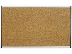 Quartet ARCB3018 Cubicle Arc Frame Colored Cork Board, 18 x 30, Tan, Aluminum Frame