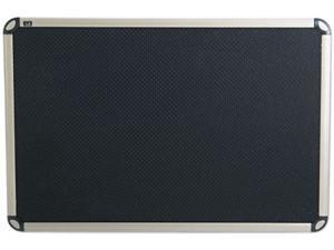 Quartet B363T Euro-Style Bulletin Board, High-Density Foam, 36 x 24, Black/Aluminum Frame