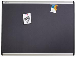 Quartet MB544A Prestige Plus Magnetic Fabric Bulletin Board, 48 x 36, Aluminum Frame