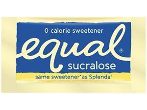 Equal 20014278 Zero Calorie Sweetener, 0.035 oz Packet, 500/Box