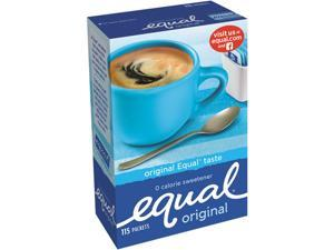Equal 20015445 Zero Calorie Sweetener, 1 g Packet, 115/Box