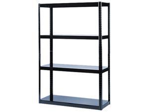 Safco 5246BL Boltless Steel Shelving, 5 Shelves, 48w x 18d x 72h, Black