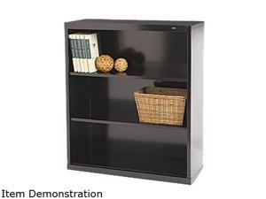 Tennsco B-42BK Metal Bookcase, 3 Shelves, 34-1/2w x 13-1/2d x 40h, Black