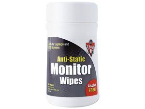 Dust-Off DSCT(FAL) Premoistened Monitor Cleaning Wipes, Cloth, 6 x 6, 80 per Tub
