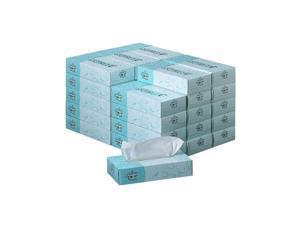 Georgia Pacific 48580CT Angel Soft ps Premium Facial Tissues, 100/Flat Box, 30 Boxes/Carton