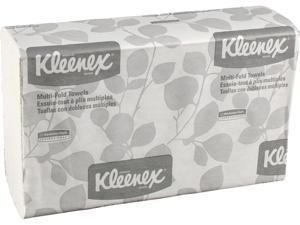 Kleenex Multifold Paper Towels (02046), White, 8 Packs / Convenience Case, 150 Tri Fold Paper Towels / Pack, 1,200 Towels / Case