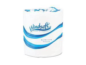 Windsoft 2200 Single Roll Bath Tissue, 500 Sheets/Roll, 96 Rolls/Carton
