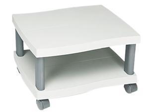Safco 1861GR Wave Design Printer Stand, 2-Shelf, 20w x 17-1/2d x 11-1/2h, Charcoal Gray
