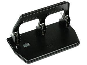 Master MP50 40-Sheet Heavy-Duty Three-Hole Punch, 9/32 Diameter Hole, Gel Pad Handle, Black