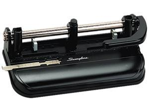 """Swingline 74350 32-Sheet Lever Handle Two- to Seven-Hole Punch, 9/32"""" Holes, Black, 1 Each"""