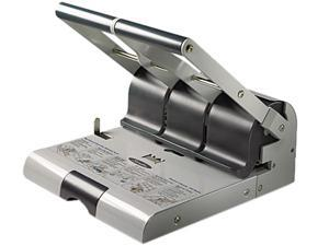 Swingline 74650 High Capacity Adjustable Punch, 2 - 3 Holes, Adjustable Centers, 160 Sheet Paper Capacity - Gray