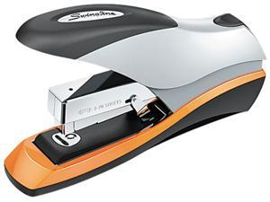 Swingline 87875 Optima Desktop Stapler, 70-Sheet Capacity, Silver/Orange/Black