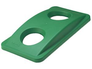 Rubbermaid Commercial 269288GN Slim Jim Bottle & Can Recycling Top, 20 3/8 x 11 3/8 x 2 3/4, Green