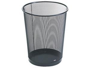 Rolodex 22351 Wastebasket, Round, Wire Mesh, 11 1/2 dia x 14 1/4 h, Black