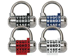 "Master Lock 1534D 2.50"" (64.00 mm) Wide Set Your Own WORD Combination Padlock with Interchangeable, Removable Dials"