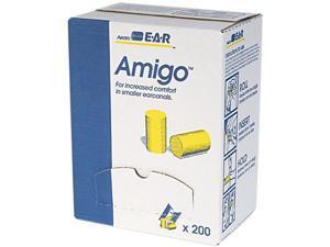 E·A·R 310-1103 Classic Small Ear Plugs in Pillow Paks, PVC Foam, Yellow, 200 Pairs/Box